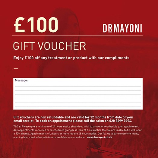 £100 Gift Voucher The Clinic by Dr Mayoni