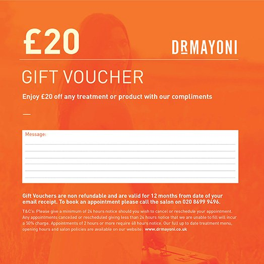 £20 Gift Voucher The Clinic by Dr Mayoni
