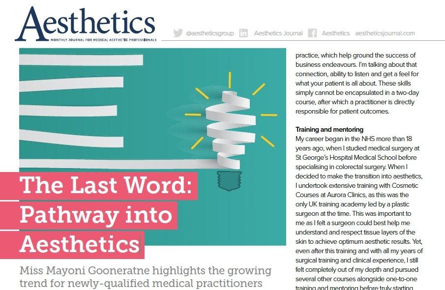 Pathway into Aesthetics