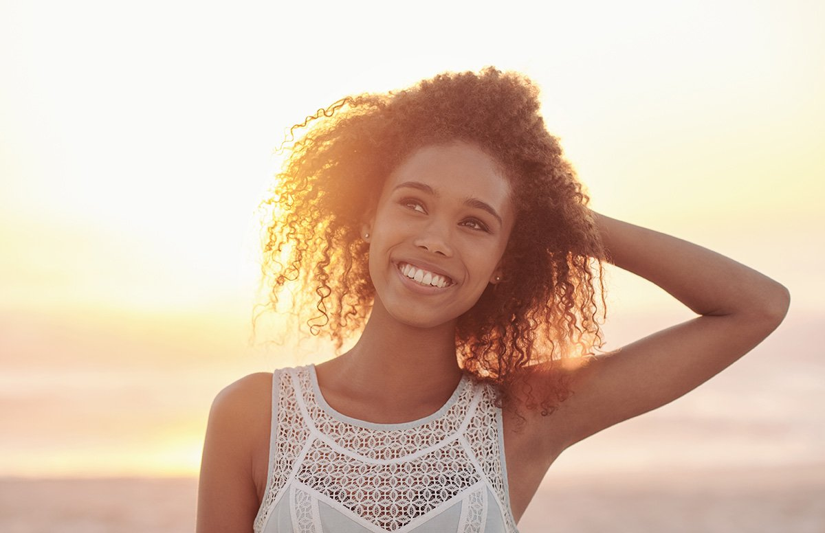 Image of woman smiling broadly
