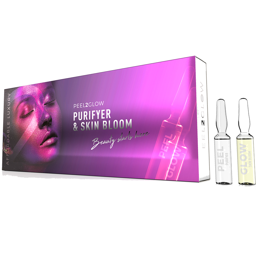 Peel2Glow: Purifyer & Skin Bloom GLOW 10-pack The Clinic by Dr Mayoni